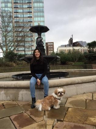 Joanna in London back image