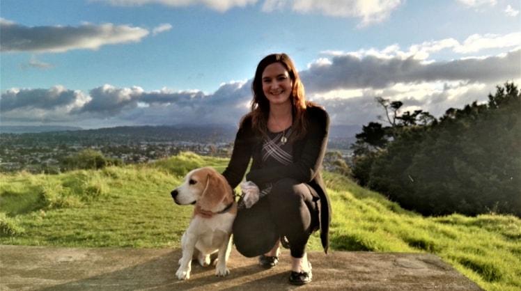 Sabine in Auckland back image