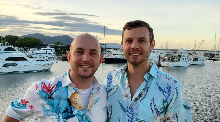 Haydn & Chris in Cairns back image